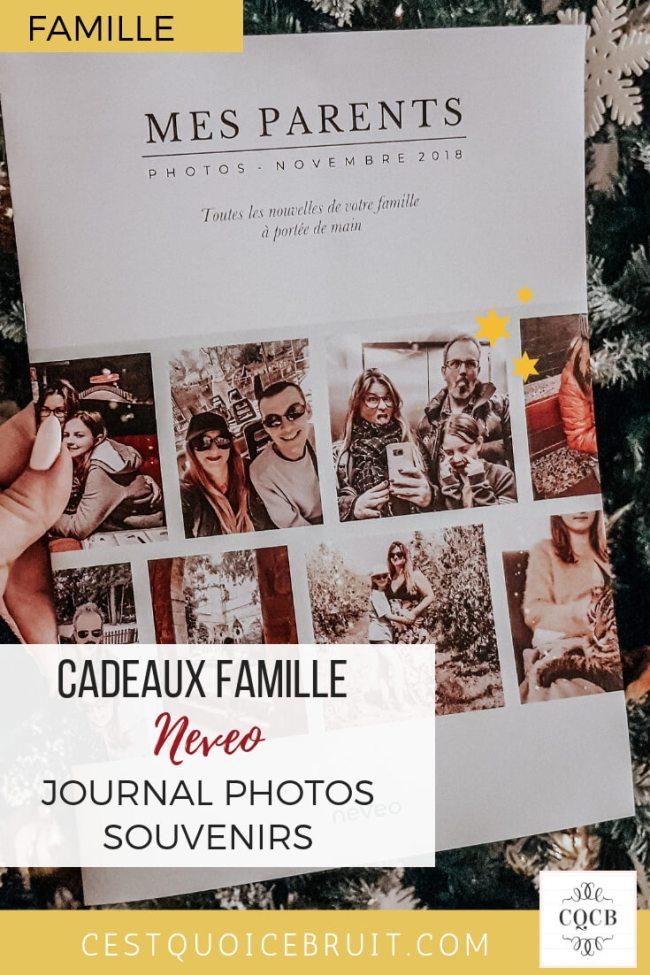 Journal photos souvenirs pour partager avec la famille #famille #photos #cadeau #noel