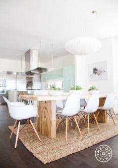 Déco scandinave : Inspiration table de salle à manger en bois #déco #décoaddict