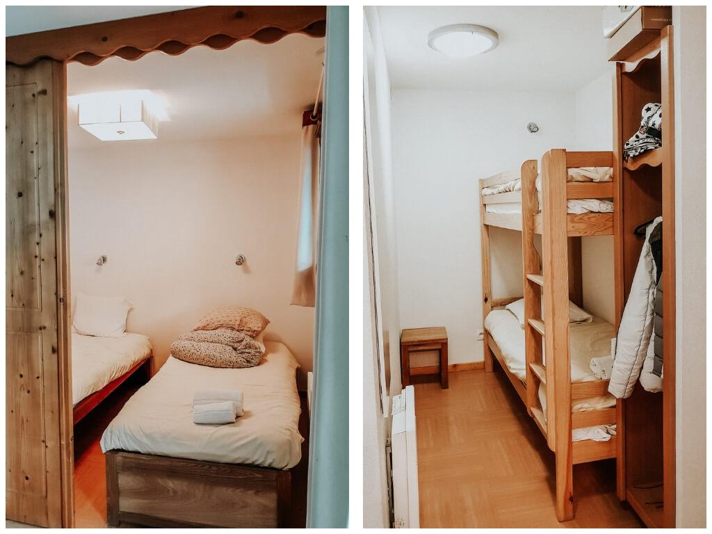Notre appartement aux Orres au Parc des Airelles Madame Vacances : les chambres