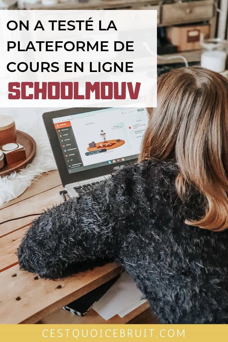 On a testé la plateforme de cours en ligne (collège et lycée) SchoolMouv #école #collège #cours #devoirs #soutienscolaire #famille #blogmaman