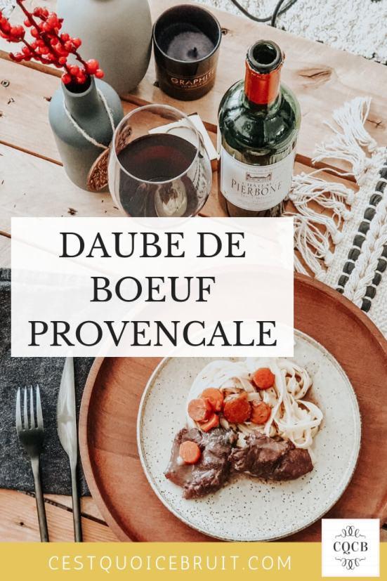 La daube provençale et son vin : quel accord mets vin avec une daube de boeuf #recette #daube #provence #recipe #vin