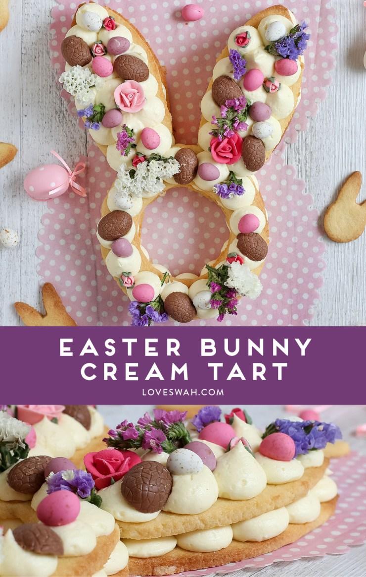 Recettes rigolotes de Pâques : la gâteau lapin à la crème #lapin #paques #recette #easter #recipe