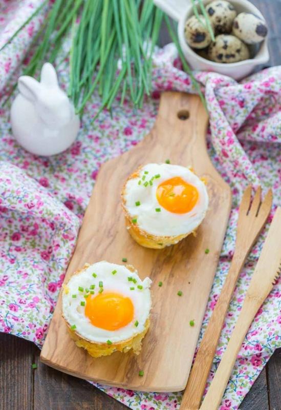Recettes rigolotes de Pâques : nids de Pâques en pomme de terre #paques #easter #recipe #recette #oeufs