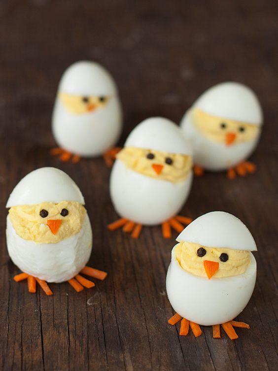 Recettes rigolotes de Pâques : les oeufs poussin #paques #easter #recette #recipe #poussins