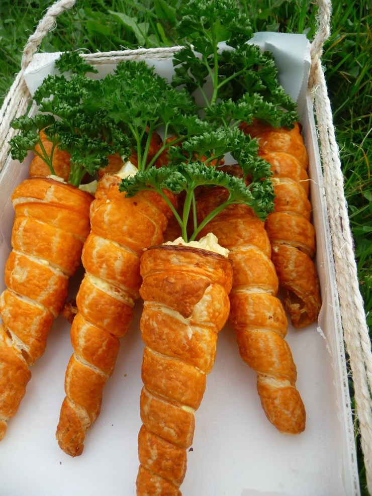 Recettes rigolotes de Pâques : les carottes feuilletées garnies #paques #easter #recette #recipe #food #carottes