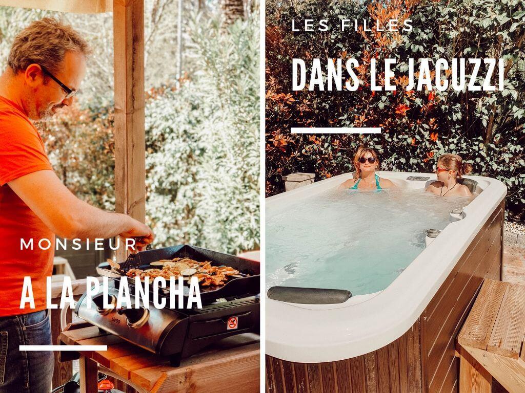 Profiter des vacances en famille et être zen : plancha et jacuzzi au camping Douce Quiétude Sandaya, Saint-Raphaël, Var