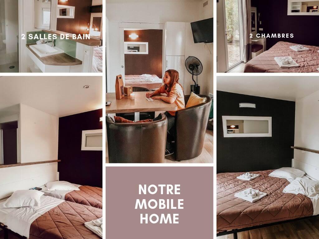 Notre mobile home au camping de luxe Sandaya Douce Quiétude, parfait pour des vacances en famille