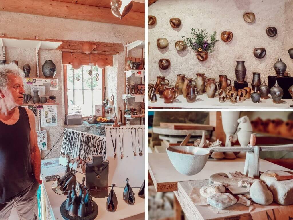 La poterie du col de Didier Cossin, lac Annecy