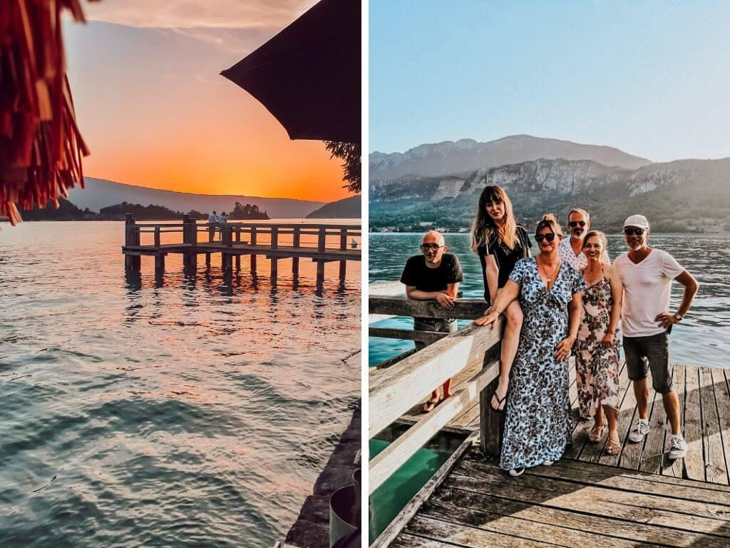 Coucher de soleil sur le lac d'Annecy depuis Talloires, blogtrip blogueurs famille voyage Annecy
