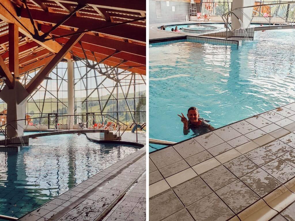 Profiter de la grande piscine à l'espace aqua-ludique des Saisies, parfait pour amuser les enfants