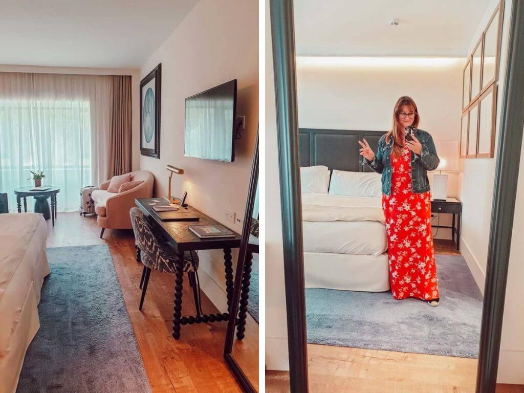 Notre chambre luxueuse pour notre séjour détente à l'hôtel Camiral à Gérone