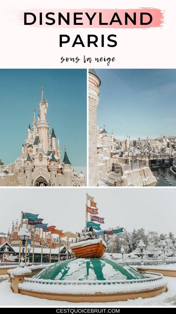 Notre séjour magique à Disneyland Paris sous la neige en janvier #disneylandparis #disney #disneybloggers #dlp #neige
