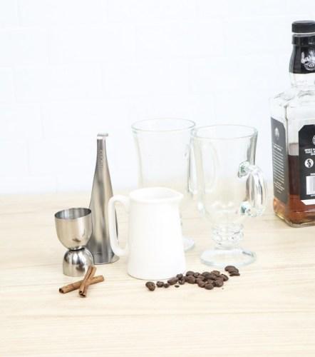 cadeau spécial hiver : la préparation pour Irish coffee