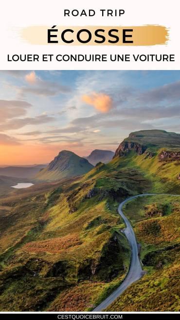 Road trip en Ecosse : conseils pour louer une conduire une voiture (conduite à gauche, single track roads, ....) #Ecosse #voyage #roadtrip #astuces #voyager #wanderlust #scotland