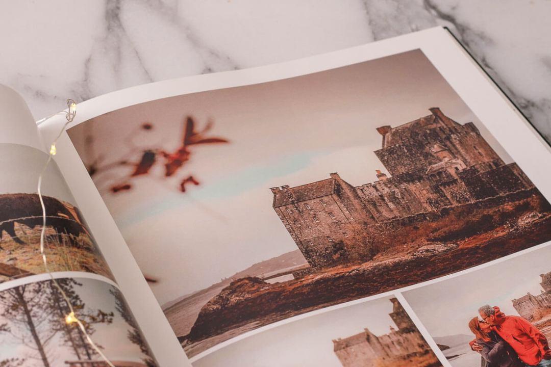 Garder un souvenir de notre voyage en famille en Ecosse avec un livre photo