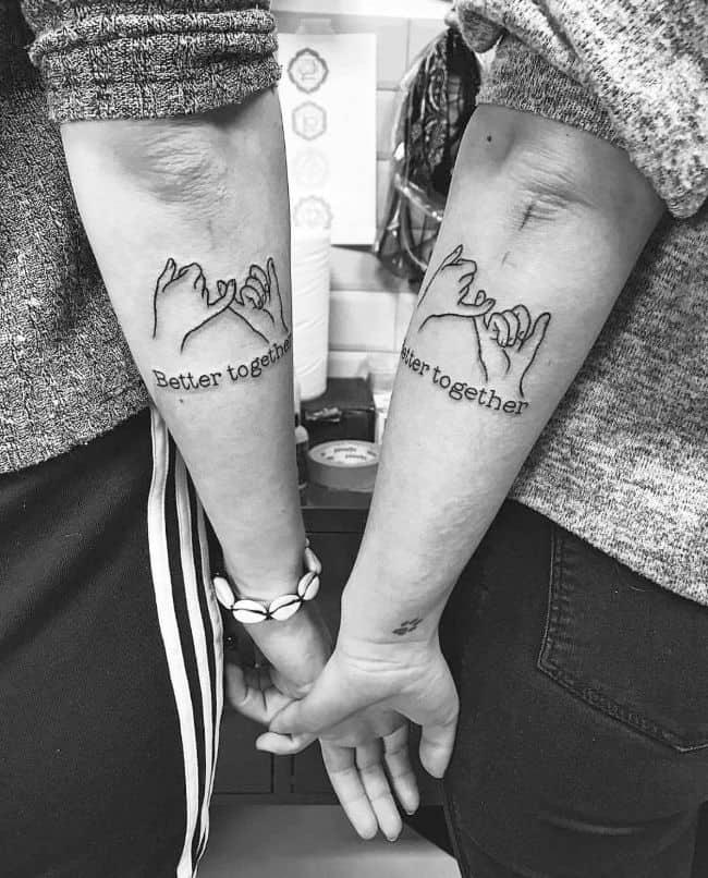 Idée de tatouage à faire en couple