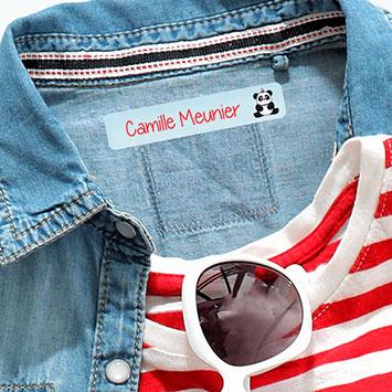 Étiquettes thermocollantes pour marquer les vêtements des enfants