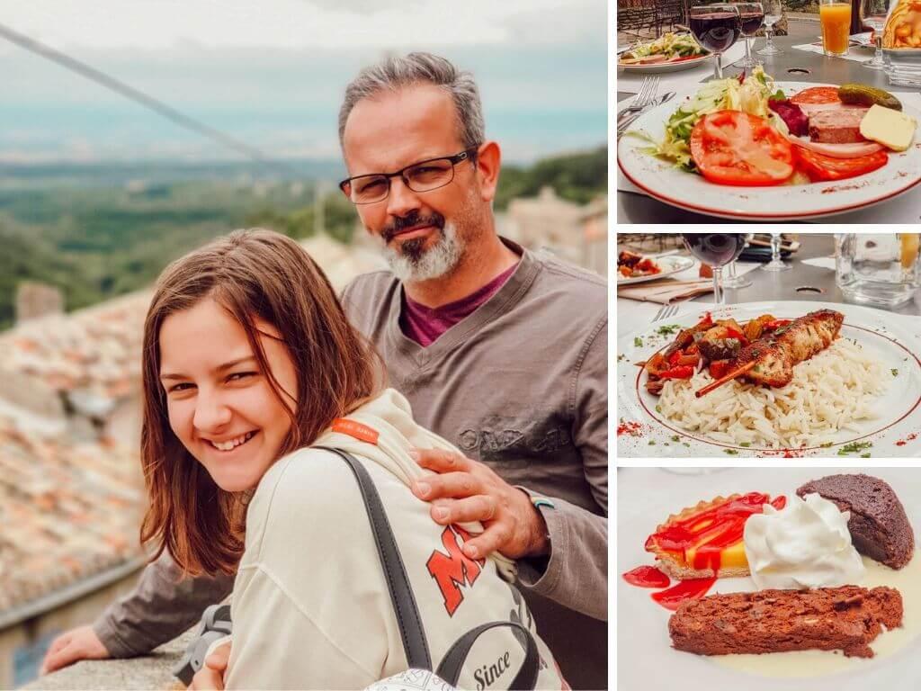 Blogtrip  en famille dans l'Aude, Restaurant la montagne noire, Saissac