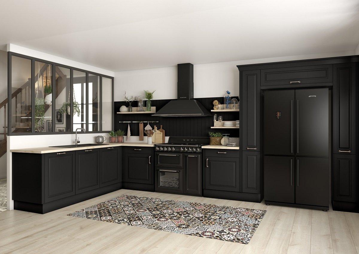 décoration cuisine noire
