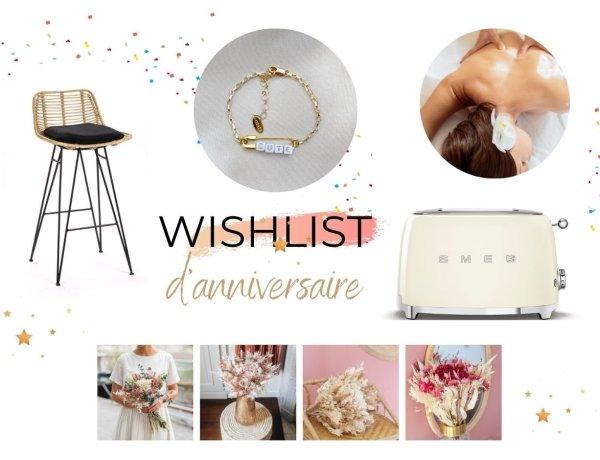 Ma wishlist d'anniversaire - ce que femme veut