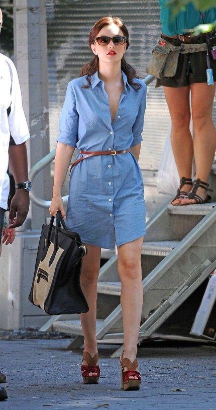 Mode printemps été 2021, la robe en jean est tendance