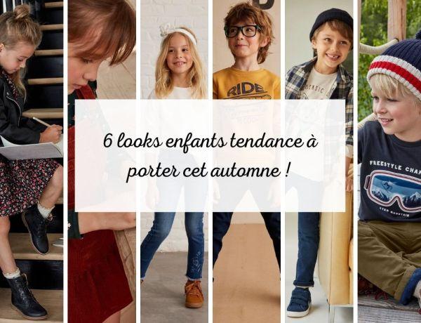 6 looks tendance et confortable pour enfants à porter cet automne