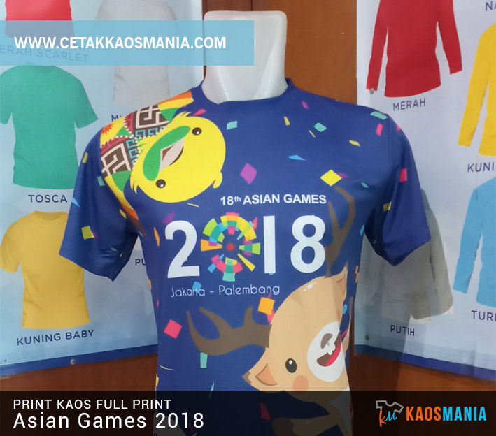 Kaos Fullprint Asian Games 2018
