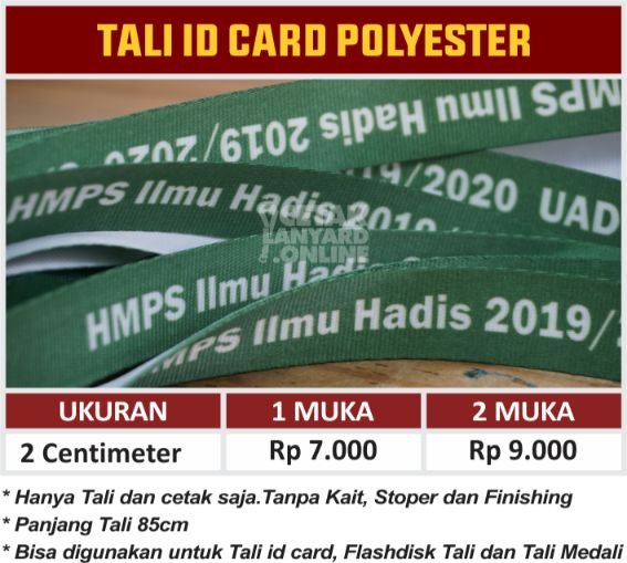 TALI ID CARD TANPA FINISHING POLYESTER