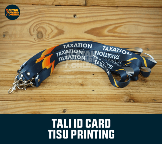 Pembuatan Tali ID Card tisu