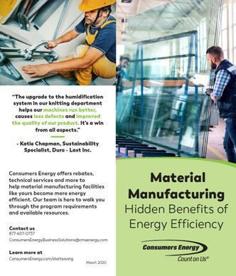 Material Manufacturing brochure
