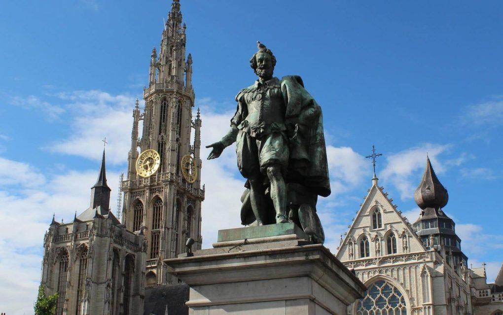 belgium Petro Paulo statue Antwerp