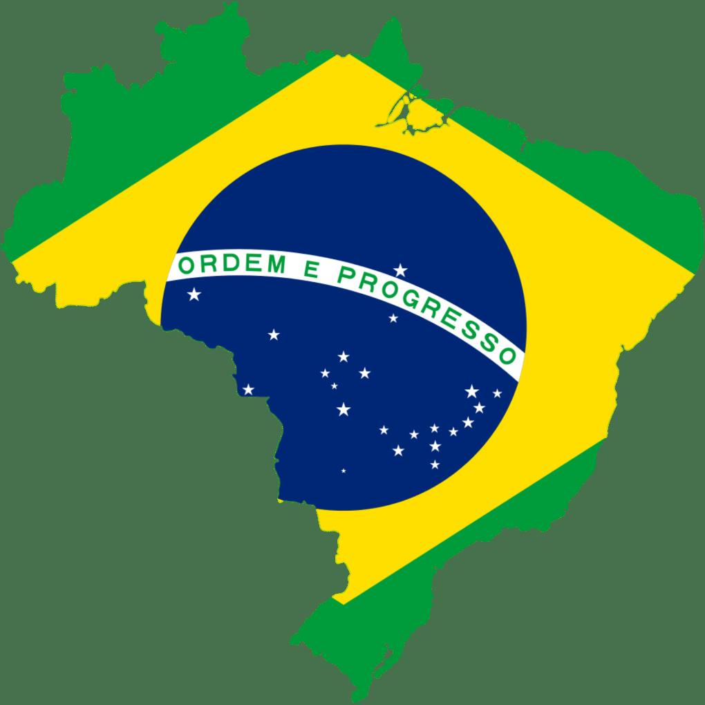 brazil Brazil Flag Map