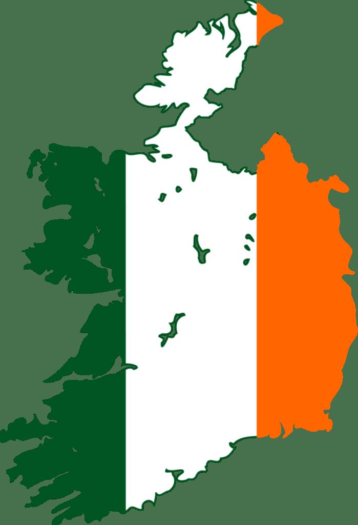 ireland Ireland Flag Map