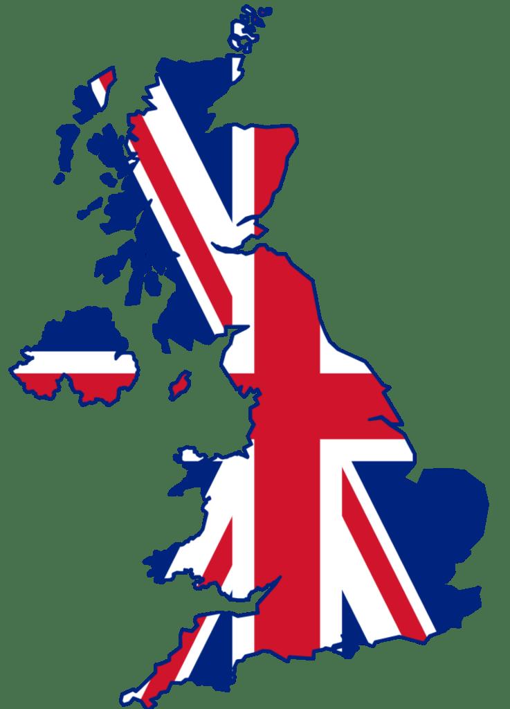 uk UK Flag Map