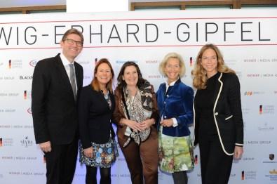 Dr. Wolfram Weimer, Stefanie Schulze (Smile care), Christiane Goetz-Weimer, Gwendolyn Freifrau von Beck-Peccoz (Brauerei Kühbach), Kristina Tröger