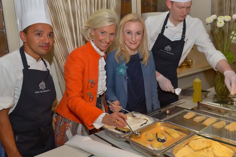 Cooking-Action- Kristina Tröger CeU-Präsidentin Dr. Anne Fleck Doc Fleck
