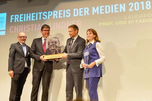 Verleihung Freiheitspreis an Christian Lindner