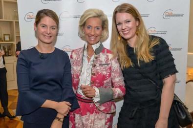 Tanit Koch BILD-Chefred., Kristina Tröger CeU-Präsidentin, Jessica Hoyer Bynacht