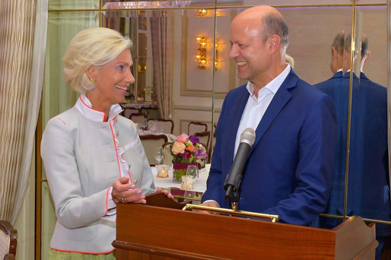 Kristina Tröger CeU-Präsidentin, Dr. Frank Stieler CEO Krauss-Maffei Group