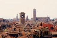 Blick über die Dächer von Venedig