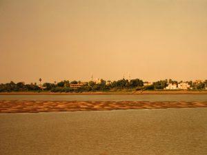 Am Zusammenfluss des Weißen Nils mit dem Blauen Nil