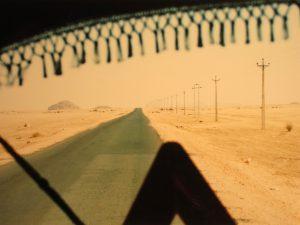 Lange Strasse, irgendwo nordöstlich von Khartum in der Wüste.