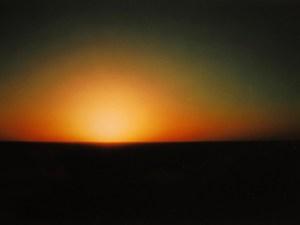 Sunset. Sonnenuntergang in der Wüste im Sudan