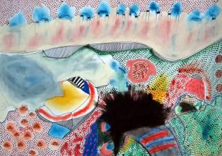 """Kreuzchenbild """"Multi Magnetic"""" Papier, 35 x 50 cm"""
