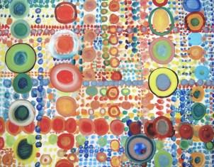 Farbsystem I, mit Öl auf Leinwand.