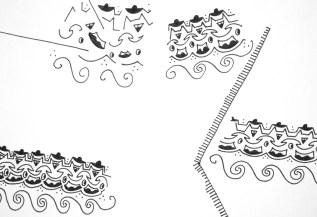 """Zeichnung """"Broken lines"""" (Detail)"""