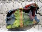 Taubenschutz mit altem Lappen