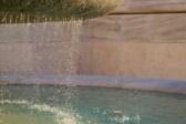 Brunnenschale mit Wassertropfen in Rom