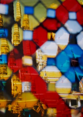 Reflections at the temple of the Emerald Buddha in the Grand Palace Bangkok