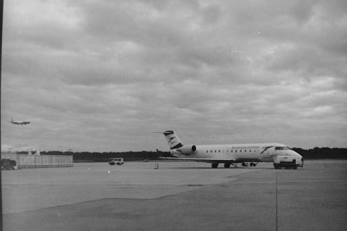 FDH - Auf dem Flughafen von Friedrichshafen am Bodensee